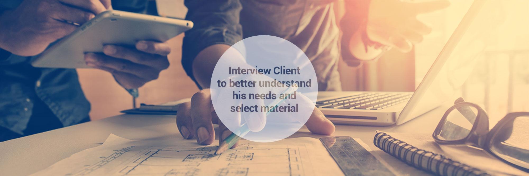 Interview client